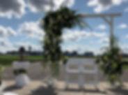 Witte, houten backdrop