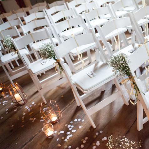 Ceremonie van een winterwedding