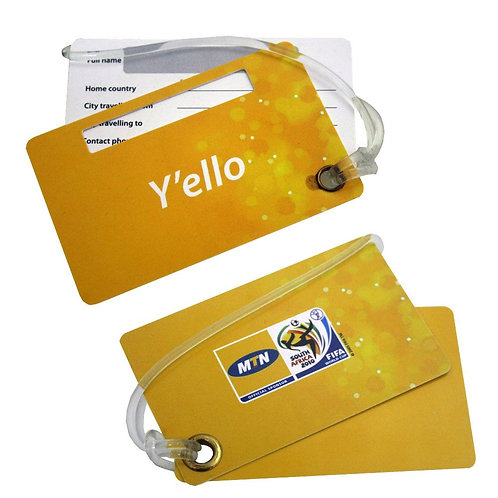 Hard Plastic Double Luggage Tag