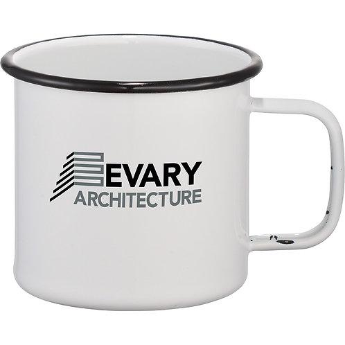 Enamel Metal Cup - White