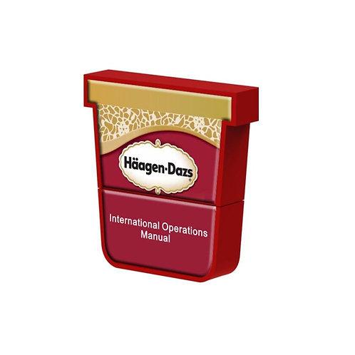 Ice Cream Tub PVC Flash Drive with Epoxy Dome
