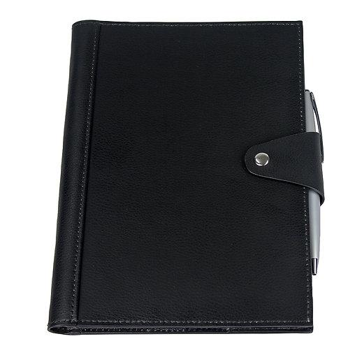Brigadier A5 Refill Leather Journal Padfolio - Black