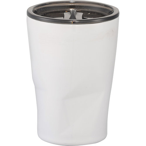 Glacier Copper Vacuum Tumbler - White