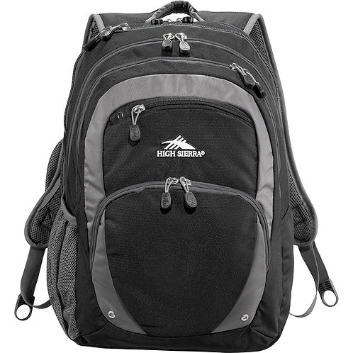High Sierra Overtime Fly-By 17 inch Computer Backpack - Black