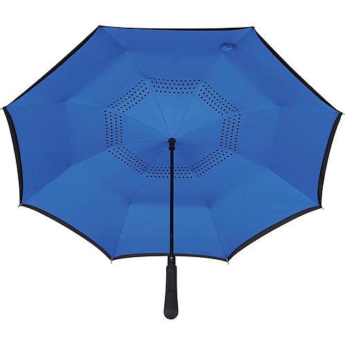 48 inch Auto Close Inversion Umbrella - Royal Blue