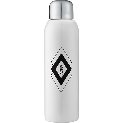 Guzzle Stainless Sports Bottle - White