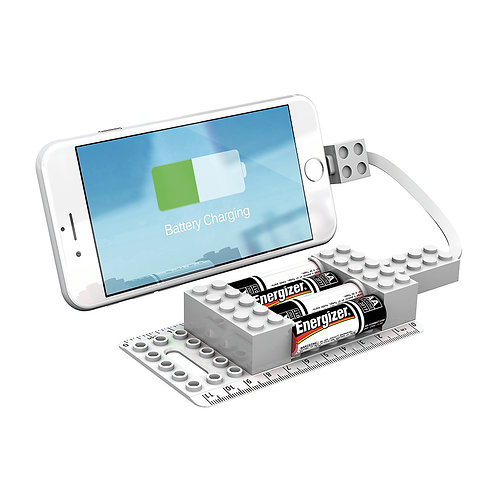 Office Block AA Emergency Mobile Charger - White