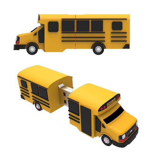 School Bus USB Flash Drive