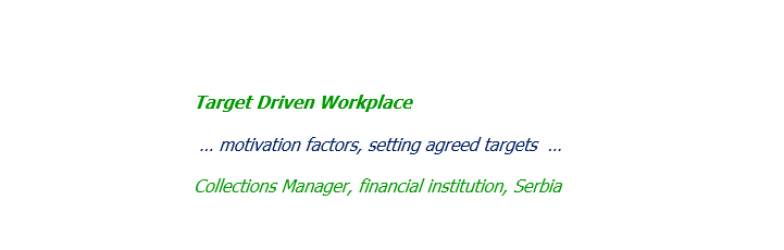Target Driven Workplace