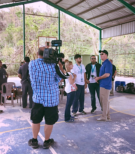 KWTX TV's Gordon Collier Joins HLP on a Relief Mission to Puerto Rico!