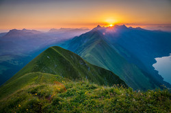 Hardergrat Lake Brienz Sunrise
