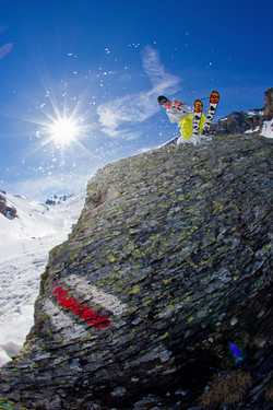 Springtime Skiing Schilthorn