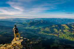 High above Switzerland
