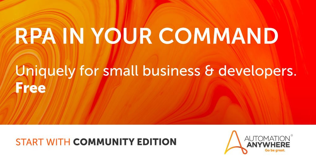 Automation Anywhere Announce Free Community Edition