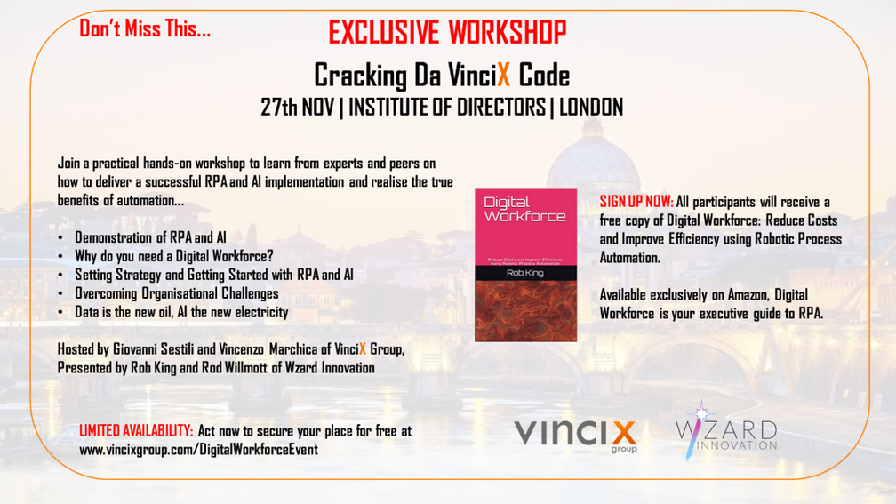 Exclusive Workshop: 27th Nov 2018