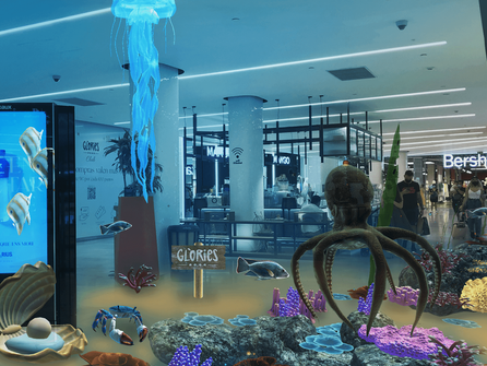 DoubleMe Installs 5th Largest (Virtual) Aquarium at Westfield Glòries Shopping Mall