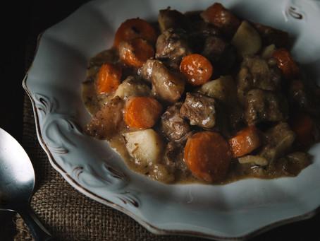 Summer savory beef stew