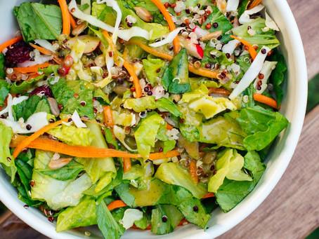 Crunchy romaine quinoa salad