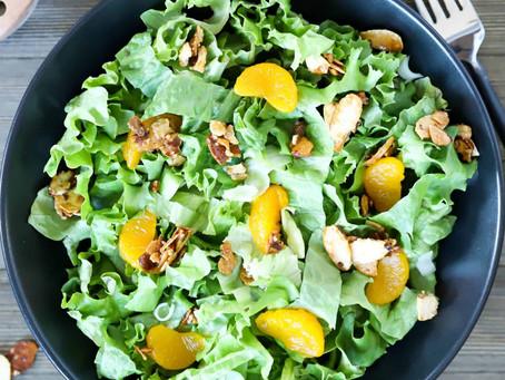 Romaine Salad with Mandarins orange