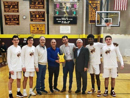 FBC Wallingford Presented with New Life-Saving Equipment at Sheehan Basketball Game