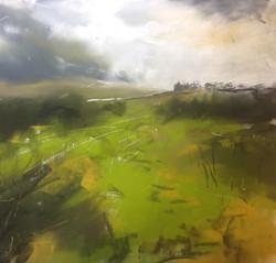 Sap green and gorse, Caldbeck Common