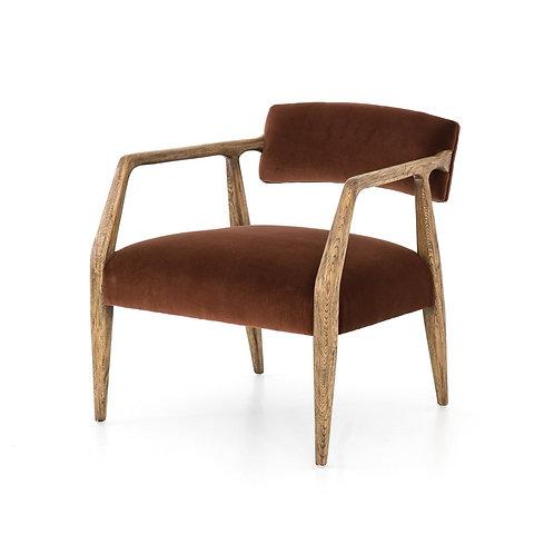 Tyler Arm Chair - Burnt Auburn Velvet