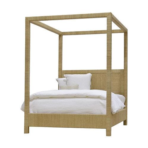 JM Woodside Canopy Bed King Nature