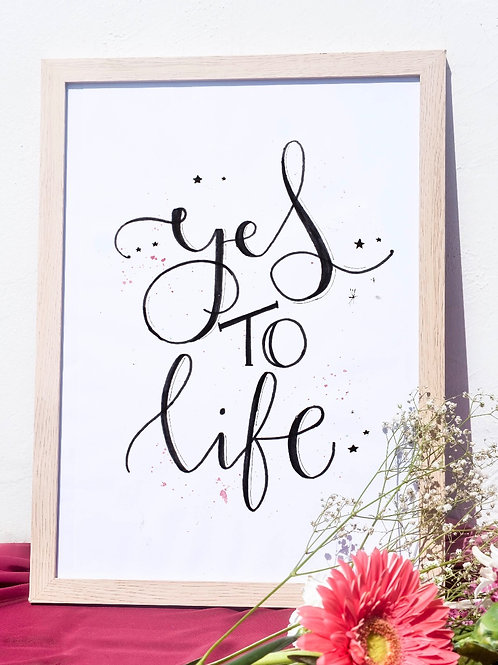 Lámina- Yes to life