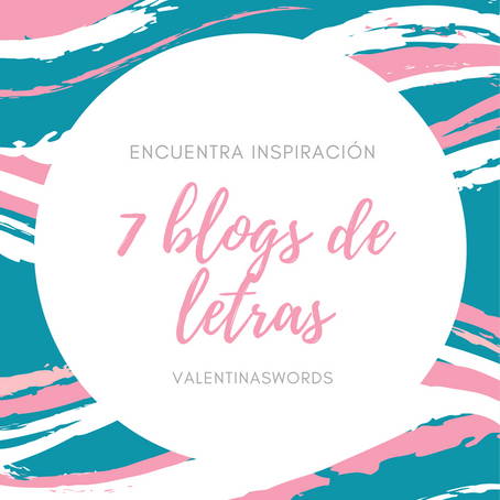 7 BLOGS DE LETRAS