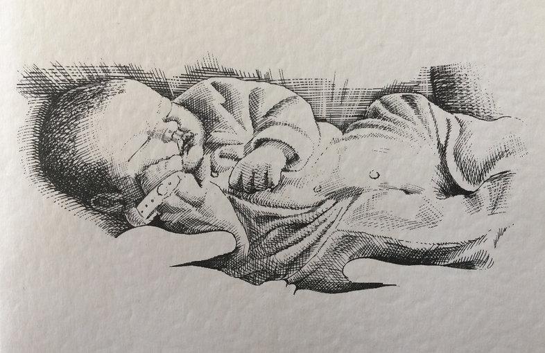 Baby Ian Renshaw actor prop maker designer illustrator musician
