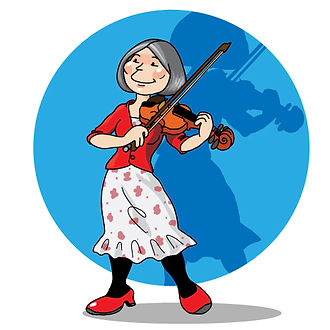 Violinist Alison Hopper Ian Renshaw actor prop maker designer illustrator musician