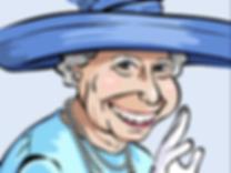 Caricature Queen Elizabeth The Queen Ian Renshaw actor prop maker designer illustrator musician
