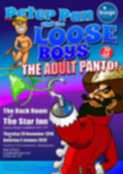 Peter Pan and the Loose Boys Guldford Ian Renshaw actor prop maker designer illustrator musician