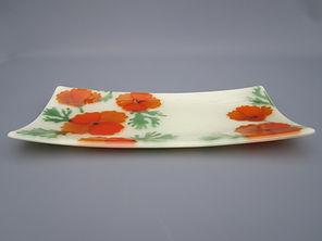 California Poppy Platter