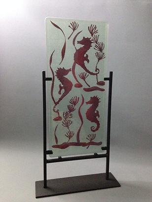 copper inclusion seahorse
