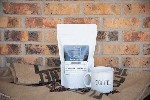 "1 LB of our delicious ""Resurrection"" Colombian Coffee & Ceramic Coffee Mug"