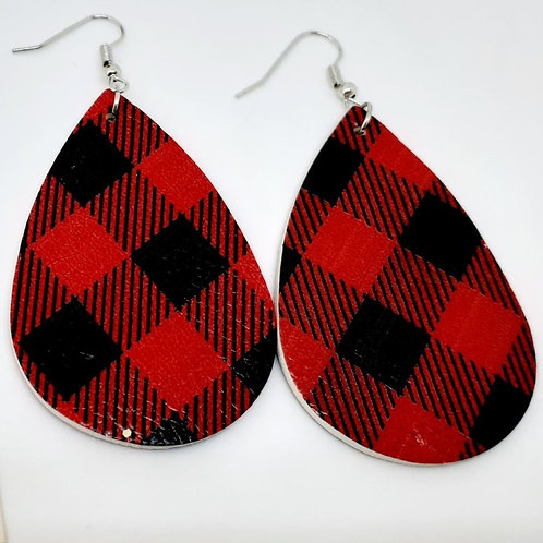 Red Buffalo Plaid Earrings
