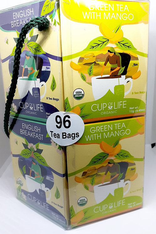 Cup of Life Organic Sampler Tea  Lovers (96 tea bags)