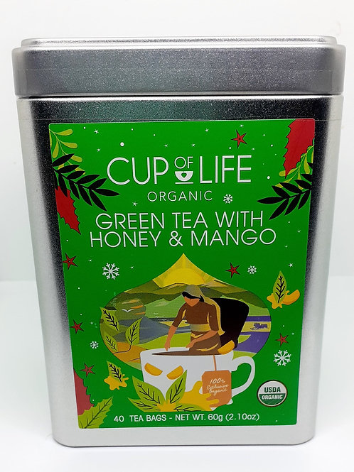 Cup of Life Organic Green Tea with Honey and Mango