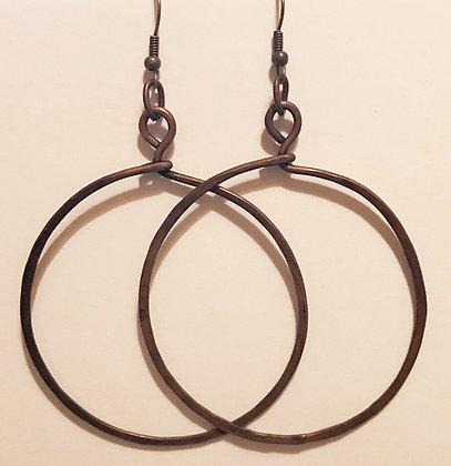 Handmade Copper Hoops!