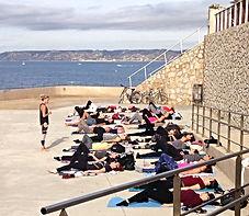 Pilates en plein air Marseille