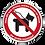 Thumbnail: Interdit aux chiens même tenus