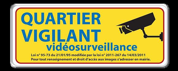 Quartier Vigilant Vidéo jaune 20 x 50 cm