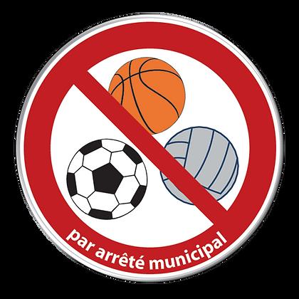 Tous jeux de ballons interdits