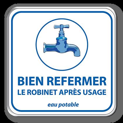 Bien refermer eau potable