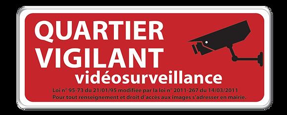 Quartier Vigilant Vidéo rouge 20 x 50 cm