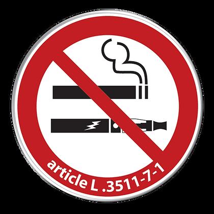 Interdit de fumer et de vapoter