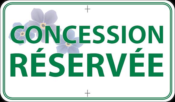 Concession réservée