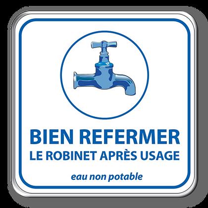 Bien refermer eau non potable