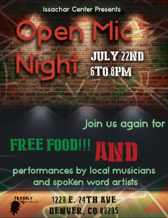 Freshly Produced poster - Open Mic Night